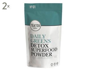 Daily Greens Detox Superfood Powder, 2 Stück, je 120 g