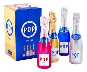 Champagner-Set Pommery Pop in Geschenkverpackung, 4-tlg., 0,2 l