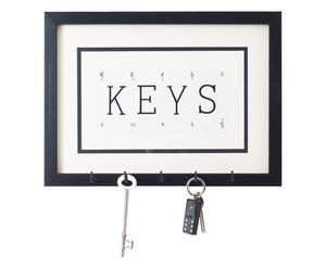 Gerahmtes Schlüsselbrett KEYS, B 30 cm