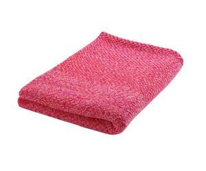 Woll-Plaid Twist, pink, B 130 x L 180 cm