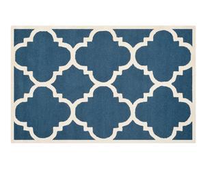 Handgetufteter Teppich Lita, blau, 152 x 243 cm