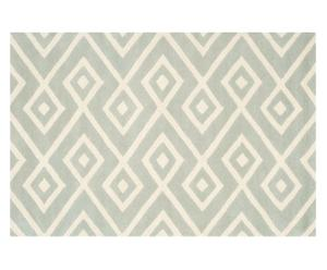 Handgetufteter Teppich Algis, grau/creme, B 152 x L 243 cm