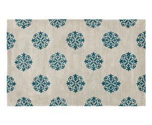 Handgetufteter Teppich Brice, grau, 152 x 243 cm