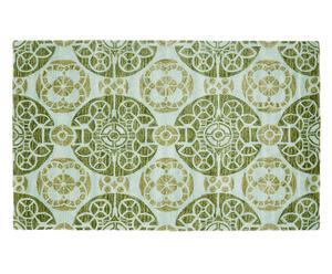 Handgetufteter Teppich Malati, grün/türkis, 121 x 182 cm