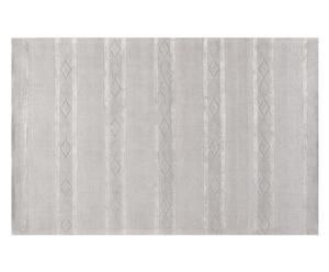 Handgetufteter Teppich Mr. Grey, grau, 152 x 243 cm
