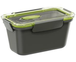 Lunchbox Bento Box, grau, grün, 0.9 l