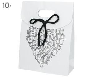 Geschenktüte Kraftpaper (10er-Set), weiß, B 19 x H 25 cm