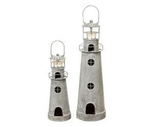 Laternene-Set Leuchtturm, 2-tlg.