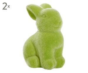 Deko-Osterhasen Easter, 2 Stück, grün, H 7 cm