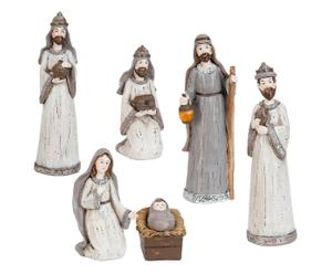 Krippenfiguren-Set Christmas, 6-tlg., Ø 4 cm