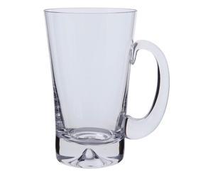 Kristallglas-Bierkrug Dimple, H 16 cm