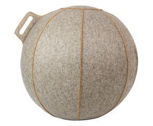 Merino Wollfilz-Sitzball Velt, beige, Ø 65 cm