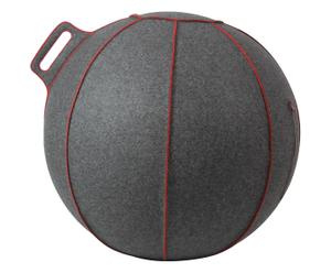 Merino Wollfilz-Sitzball Velt, grau, Ø 75 cm