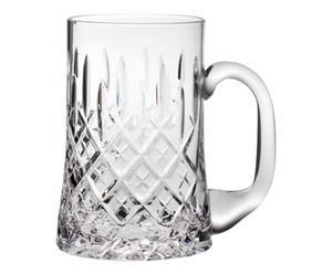 Handgeschliffener Kristallglas-Bierkrug London