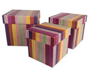 Handgearbeitetes Aufbewahrungsboxen-Set Pekutatan, 3-tlg.