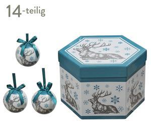 Weihnachtskugeln Celebrian, 14-tlg., Ø 8 cm