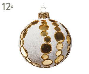 Weihnachtsbaumkugeln Boublé, 12 Stück, Ø 8 cm