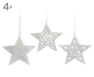 Deko-Anhänger Winter Star, 12 Stück