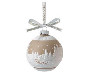 Porzellan-Weihnachtskugel Sleigh Ride