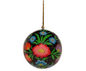 Weihnachtskugel-Set Flower, 6-tlg.