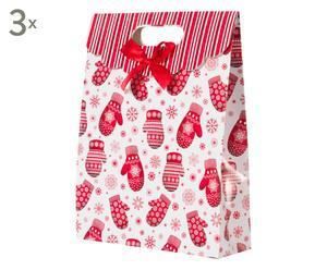 Weihnachts-Geschenktüten Leon, 3 Stück, H 33 cm