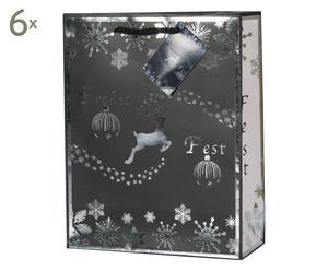 Weihnachts-Geschenktüten Tessa, 6 Stück, H 23 cm