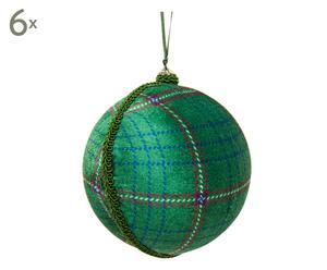 Weihnachtskugeln Harry, 6 Stück, grün, Ø 10 cm