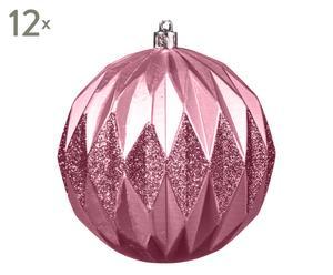 Weihnachtskugeln Jaimie, 12 Stück, pink, Ø 10 cm