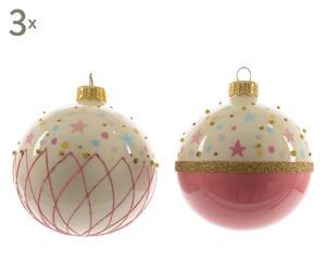 Weihnachtskugel-Set Anja, 6-tlg., pink, Ø 8 cm