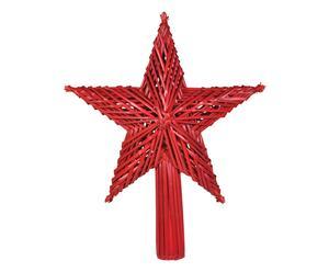 Weihnachtsbaumspitze Elma, rot, H 30 cm