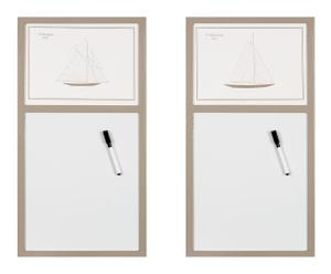 Magnettafel  Amalia, 2-tlg.,  H 60 cm
