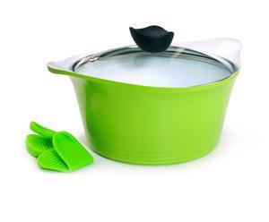 Topf SPLASH, grün/weiß, Ø 24 cm