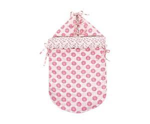 Babyschlafsack ROSALIE mit Kapuze, rosa/beige, 0 bis 6 Monate