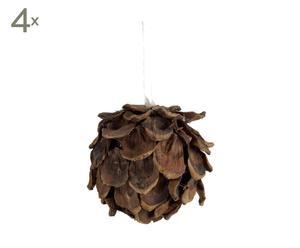 Weihnachtskugeln Cone, 4 Stück, Ø 8 cm