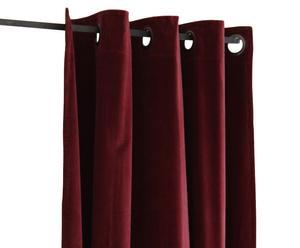 Vorhang EMMANUELLE, dunkelrot, 280 x 140 cm