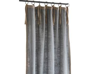 Handgefertigter Vorhang Perignan, blau, 100 x 280 cm