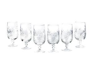 Mundgeblasene Kristallglas-Biergläser Anne, 6 Stück