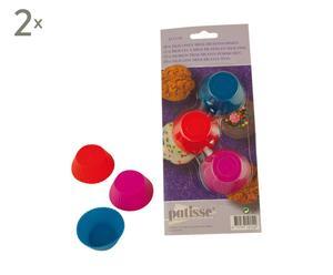 2 Kits de 6 caissettes Silicone, Multicolore - Ø3