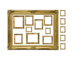 Wandsticker-Set GOLDEN PICTURE FRAMES, 15-tlg