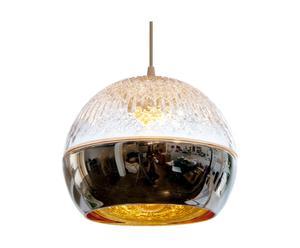Lampenschirm Celia, silberfarben/transparent, H 12 cm, Ø 13 cm