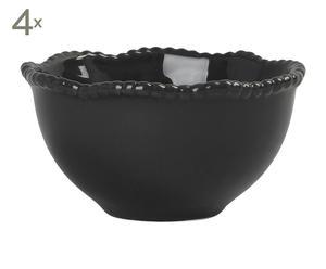 Dessertschalen Wave, schwarz, 4 Stück, Ø 13 cm