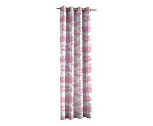 Vorhang Histoire, weiß/rosa, 135 x 270 cm