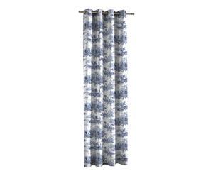 Vorhang Histoire, blau/weiß, 135 x 270 cm