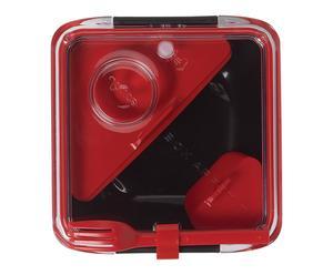 Boîte à bento, noir et rouge - 19*19