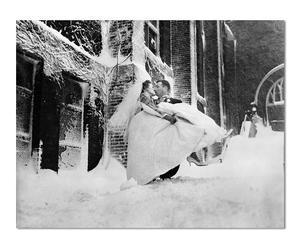 Ungerahmter Fotodruck Hochzeit im Schnee, 50 x 40 cm