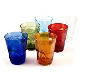 Set di 6 bicchieri accartocciati da cocktail Arcobaleno - multicolor
