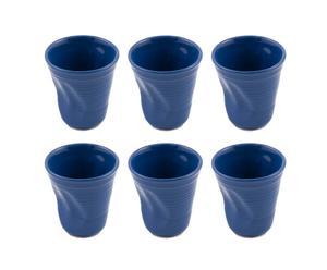 Set di 6 bicchieri accartocciati Colors - blu