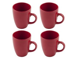 Set di 4 tazze Colors - rosso