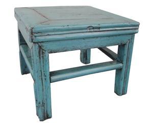Niedriger Beistelltisch MUHAI, B 31 cm, blau