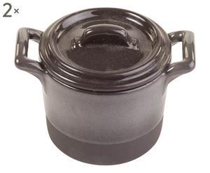 Kochtöpfe DON GUSTO, 2 Stück, grau